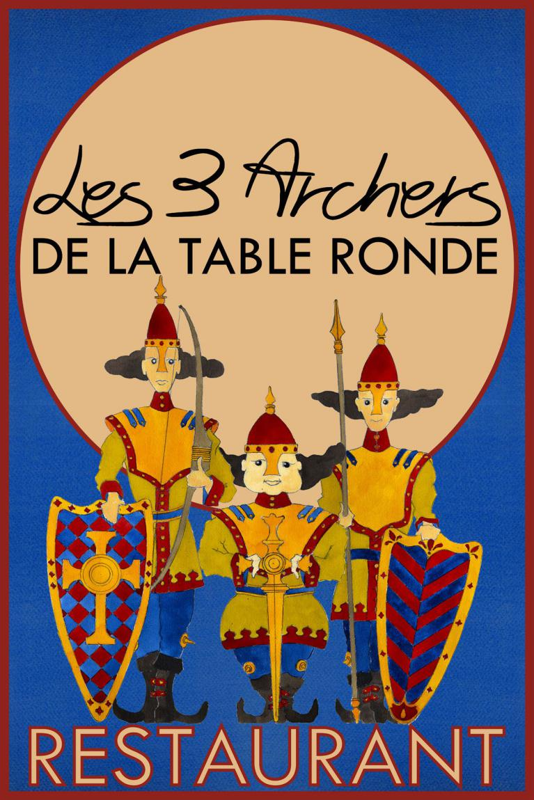 restaurant les 3 archers de la table ronde riverie 5. Black Bedroom Furniture Sets. Home Design Ideas